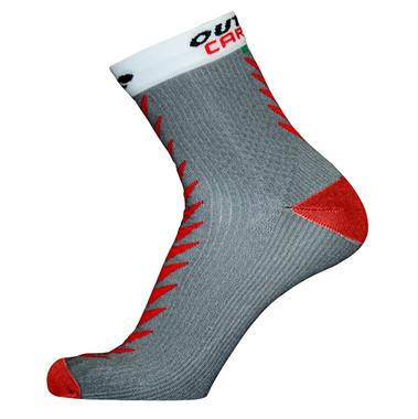 Socquettes ULTRACARBONSOCKS Gris/Rouge