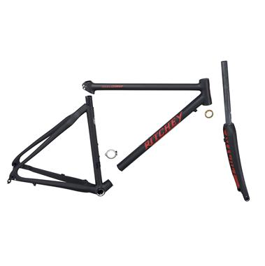 Cadre Gravel Break-Away Outback Carbon Disc + Fourche Assortie Black/Red